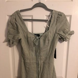 Sage Green Eyelet Dress